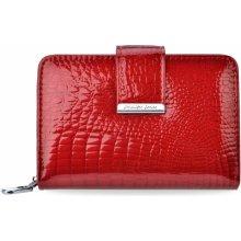 Kožená dámská peněženka jennifer jones lakovaná portmonka červená e500e2e5cd4