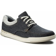 Polobotky CLARKS Step Isle Lace 261327647 Navy Canvas