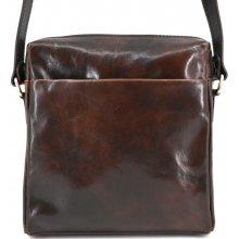 8ce9a469991 kožená taška crossbody dámská pánská Arteddy tmavě hnědá