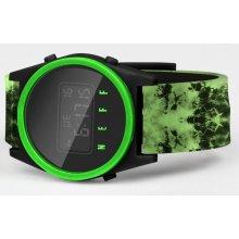 17a48c64de4 Neff DAILY DIGITAL Green Wash Black Slime