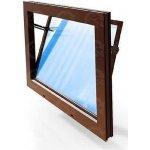 ACO Sklepní okno hnědé vyklápěcí plastové 100 x 50 cm dvojsklo 4+4 mm