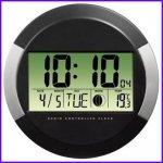 Digitální nástěnné hodiny PP-245, černé