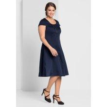 sheego Style koktejlové šaty námořická modrá 341c0935a1