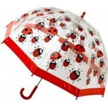 Dětský průhledný holový deštník Buggz Kids Stuff Ladybugs BULB Blooming Brollies mBR0036