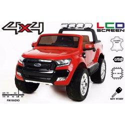 Beneo elektrické autíčko Ford Ranger Wildtrak 4X4 LCD Luxury Červená lakované