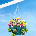 Die moderne Hausfrau Závěsný květináč s bočními otvory 659129