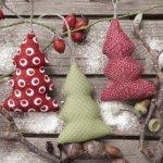 Ubrousek 33x33 cm Vánoční ozdoby stromky