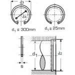 pojistný kroužek 35x1.5 BEZ PÚ pro díru, vnitřní DIN 472