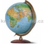 globus Primus 30 cm reliéfní dřevěný podstavec, kovové rameno