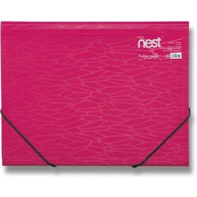 Foldermate Tříchlopňové s gumou NEST Action Case A4 Zlatožlutá