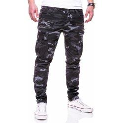 Pánské džíny pánské maskáčové džíny Zipper Biker Slim Fit RJ-3196 3bba26765e