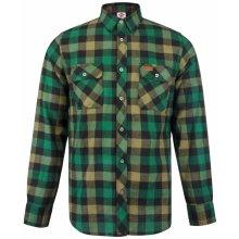 Lee Cooper Slim Fit Check shirt Mens Black Green 31ced762c3