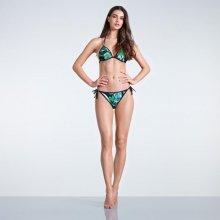 SoulCal Triangle Bikini Top Ladies Black Palm Prnt 462f4abefc