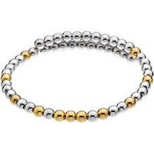 Hot Diamonds Ocelový náramek s pozlacenými korálky Emozioni Wrap DC154