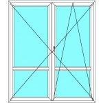 Balkónové dveře EkoSun Maco Dvoukřídlé dělené 3D - Bílá - Dekor 210x200