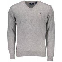 Gant vlněný svetr s V límečkem - šedý