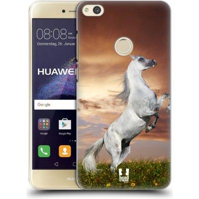 Pouzdro HEAD CASE Huawei P8 LITE 2017 vzor Divočina, Divoký život a zvířata foto DIVOKÝ KŮŇ MUSTANG BÍLÁ