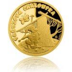 Česká mincovna Zlatá mince Pohádky z mechu a kapradí Pařezová chaloupka proof 3,11 g