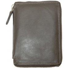 kožená peněženka pánská kvalitní celá dokola na zip Hnědá