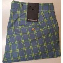 J.Lindeberg kalhoty Ellott Micro Stretch modro žluté