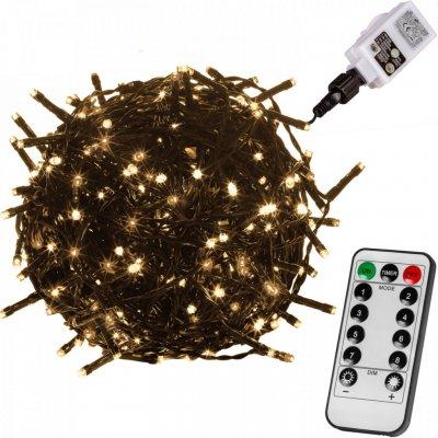 Goleto Vánoční LED osvětlení 60 m - zelený kabel teplá bílá 600 LED