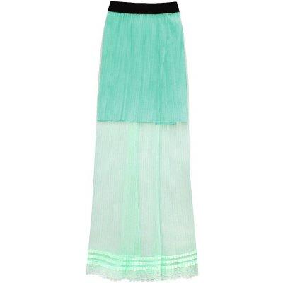 Prodyšná plisovaná sukně 98ART zelená