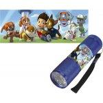 EUROSWAN Dětská hliníková LED baterka Paw Patrol modrá Alu 9x3 cm