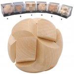 Hlavolamy dřevěné 3D 6 druhů