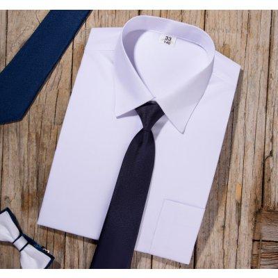 Klasická košile s dlouhými rukávy bílá bílá