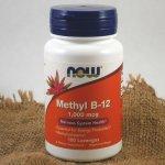 NOW Vitamin B12 Metylkobalamin, 1000 μg x 100 pastilek