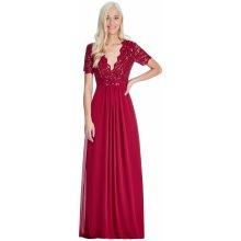b4187cdb7e87 CityGoddess dlouhé plesové šaty Lauren vínová