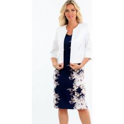 Color collection Dámské zeštíhlující šaty s bílým bolerkem dámské ... f6a6e4a384