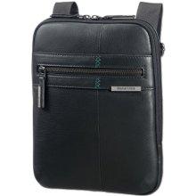 Samsonite pánská kožená taška přes rameno 9 7 Formalite LTH 61N-002 černá c124b01106