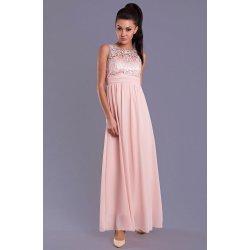 5cba42dd9363 Eva   Lola elegantní dlouhé plesové šaty světle růžová