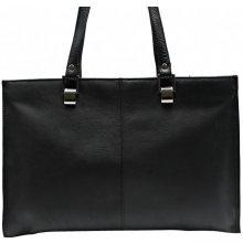0dbf446af9 Arwel kožená tří-zipová kabelka 212-2203A černá