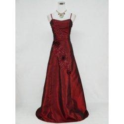 Burgundy červené dlouhé jednoduché Společenské šaty na ples svatbu ... c8ebecdac1