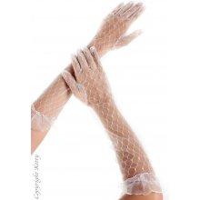 Průsvitné rukavičky bílé 7101 Ketty