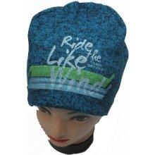 chlapecká pleteninová zimní čepice zeleno černá 4b0e6a0ec5