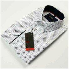 a114160200c Bílá pánská Košile dlouhý rukáv vypasovaný střih Native 120007