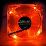 FLEXIGLOW Quad LED Fan 80mm Red
