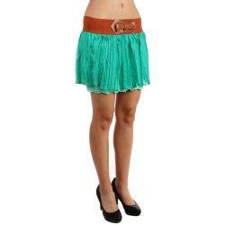 4ac625a217e TopMode dámská minisukně s krajkovou spodničkou tmavě zelená ...