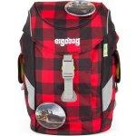 Ergobag batoh Mini Károvaný červený/černý