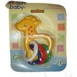 Sun Baby Plastové chrastítko žirafa