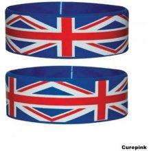 Náramek silikonový Union Jack modrý šířka WR67025 CurePink