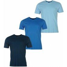 Donnay Three Pack V Neck T Shirt Mens LtBlue/Blue/DkB