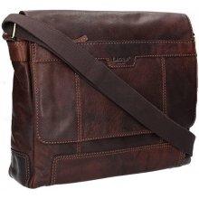 Lagen pánská kožená taška LN-22012 tmavě hnědá 92159abfe45