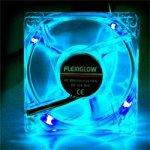 FLEXIGLOW Quad LED Fan 80mm Blue