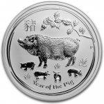 Lunární série II. stříbrná mince 0,5 AUD Year of the Pig Rok vepře 1/2 Oz 2019