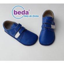 Beda barefoot kožené boty modré