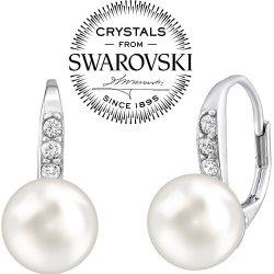 c809d6e64 Recenze Silvego stříbrné náušnice s bílou perlou Swarovski Crystals  LPER0639 - Heureka.cz